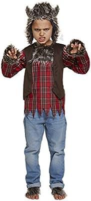 Niños Halloween Hombre Lobo Disfraz 10-12 años (Grande): Amazon.es ...