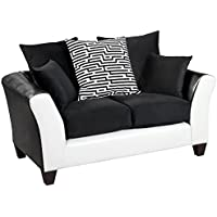 Flash Furniture Riverstone Implosion Black Velvet Loveseat