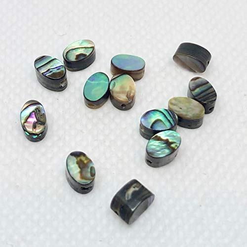 13 Gorgeous! Abalone Oval Coin Beads for Jewelry Making 004556