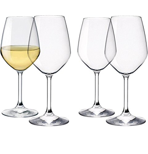 Italian Wine Glasses Set of 4 Shatter Resistant