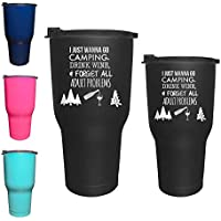 Camp and Forget Adult Problems - Tumbler Cup Glass Mug...