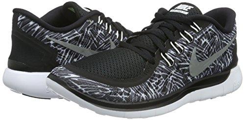 Nike Dame Gratis 5,0 Print LaufSko Sort (sort / Hvid-hvid)