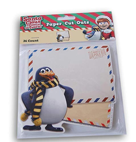 Santa Claus is Coming to Town Cardstock Cut-Outs - 36 Pieces]()