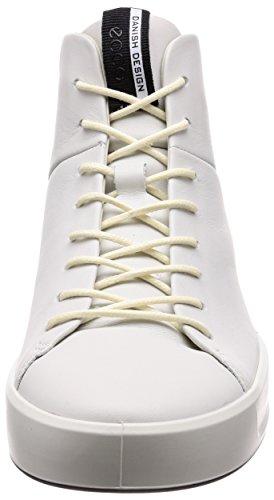 Noir Ecco Men's Soft Baskets 8 Homme Blanc Hautes White YgYrq