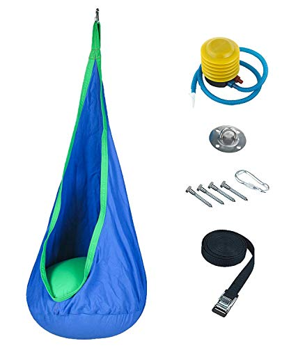 Harkla's Hanging Pod Swing for Kids - Includes