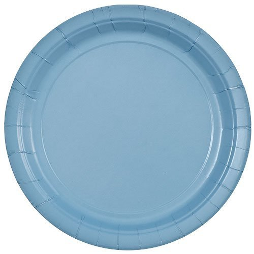 Light Blue Dinnerware - Party Dimensions 71192 20 Count Paper Plate, 8.75-Inch, Light Blue
