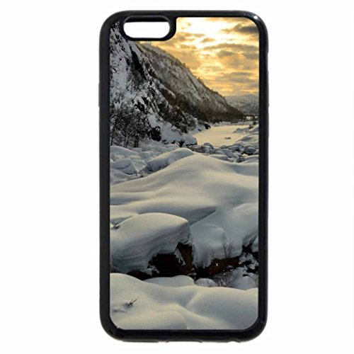 iPhone 6S Case, iPhone 6 Case (Black & White) - magnificent riverscape in winter