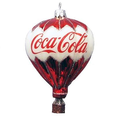 Kurt Adler Coca-Cola Glass Balloon Ornament, 3.5-Inch