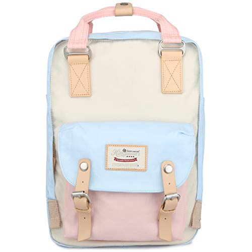 Himawari School Waterproof Backpack 15 Inch College Vintage Travel Bag for Women, 14 Inch Laptop Compartment for Student (HM-38#)