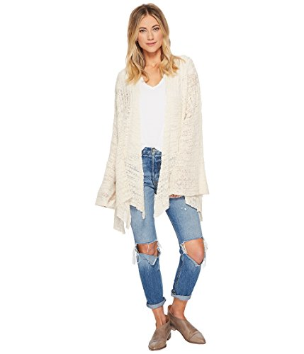 Free People Womens in My Element Open Front Cardigan Sweater Ivory S