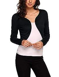 DACHUI Women's Bolero Long Sleeve Bolero Shrug Knit Cropped Cardigan Sweater Jacket Shrug Top