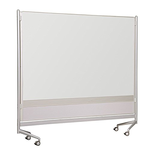 (Balt Mobile Double Sided Divider Dura-Rite HPL Markerboard Both Sides DOC Room Partition 6'H x 6'W electronic consumers)