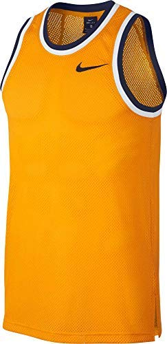 Nike Men's Dry Classic Basketball Jersey (University Gold/CLG NVY, Medium)