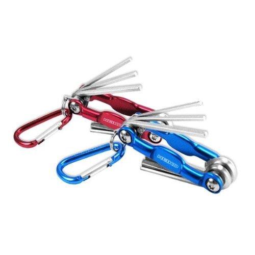 UPC 837013011132, Pocket Size Folding Hex Key Wrench Set with Keychain Snap Hook