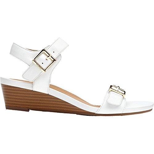 Vionic Port Frances - Womens Demi- Wedge Sandal White - 7.5 Medium by Vionic