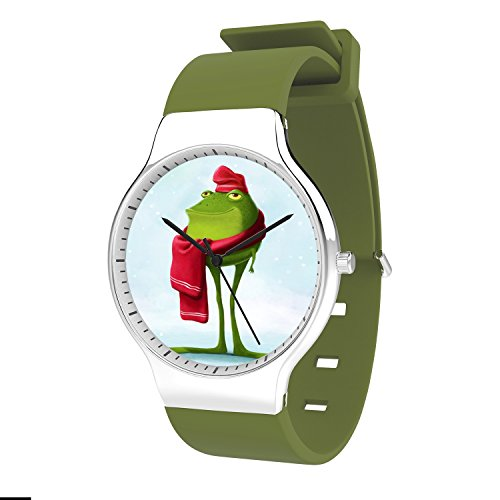 FELOOWSE Rainbow Frog Watch Men'S Quartz Watches, Minimalist Slim Japanese Quartz Youth Silicone Watches, Fashion PracticalWaterproof Boys Watch Customized Watches by FELOOWSE (Image #1)