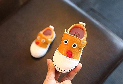 BZLine Baby Kind Mädchen Jungen Cartoon Hund Casual Warme Sneaker Gelb
