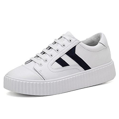 Classic Skateboard Shoe - TIOSEBON TIOSENBON Womens Classic Platform Sneakers Casual Skate Shoes Old School Tennis Shoes 8.5 US Black