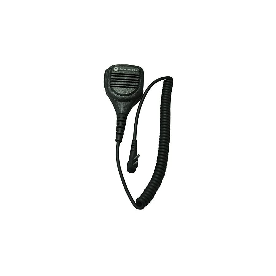Motorola Original OEM PMMN4013 PMMN4013A Remote Speaker Microphone with 3.5mm Audio Jack, Coiled Cord & Swivel Clip, Intrinsically Safe