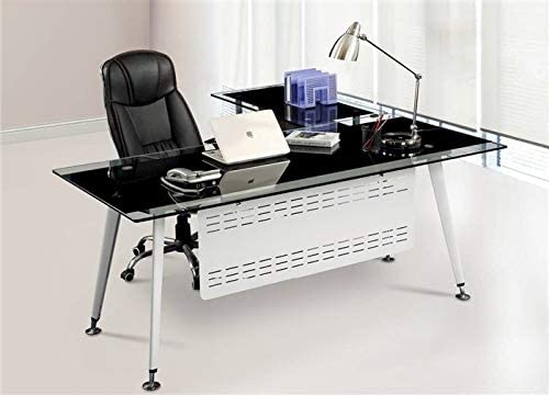 Grupo SDM Mesa Oficina Escritorio, Mueble a Izquierda, Cristal ...