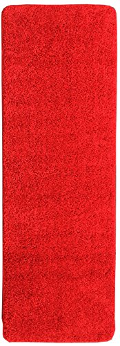 Ottomanson Luxury Collection Solid Runner Rug with Non-Slip/Rubber-Backing Bath Rug, 20