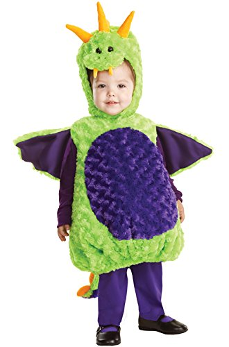 Toddler And Kids Spike The Dragon Costumes (Underwraps Baby's Dragon Belly-Babies, Green/Purple, X-Large)