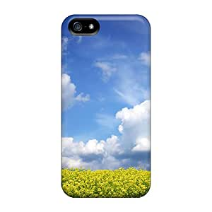 New Fashion Premium Tpu Case Cover For Iphone 5/5s - Yellow Field