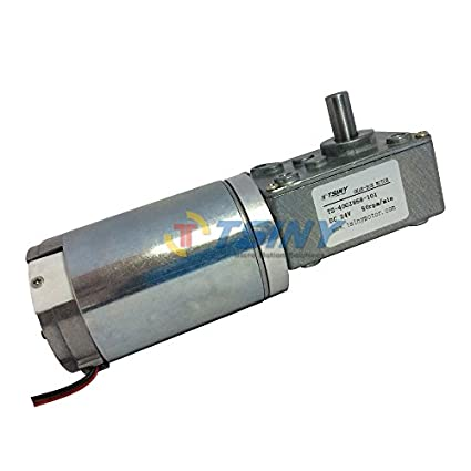 Weighing Heads etc 12V18RPM Robots Worm Gear Motor DC 12 // 24V Brushless Worm Motor Speed Reduction Gear Motor 4~150 U//min for Electronic Locks Gear Motor