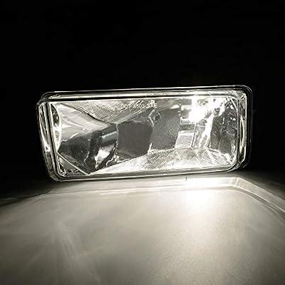 Fog Lights Clear Lens For 2007-2014 Chevy Silverado Tahoe Suburban Avalanche: Automotive