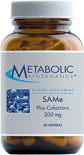 Metabolic Maintenance - SAMe + Cofactors - 200 mg, Shelf Stable + No Endocrine Disruptors, 60 Capsules