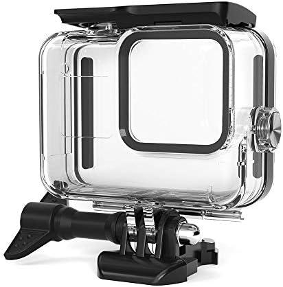 Baugger アクションカメラ防水ケース耐水197FT / 60Mまでの防水保護ハウジングIP68 GoPro 8と互換性ありシュノーケリングダイビングサーフィン用ブラックカメラ水中写真アクセサリー