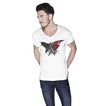 Creo Batman Super Hero T-Shirt For Men - Xl, White