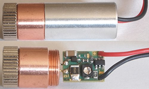 120mW 520nm PL520B Green Diode In Copper Module W/Driver & G-2 Glass Lens by DTR's Laser Shop