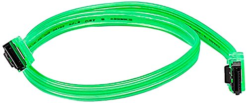 eDragon SATA III 6Gbps Cable with Locking Latch ED715847 Green Straight-Straight 18 inch 3 Pack,