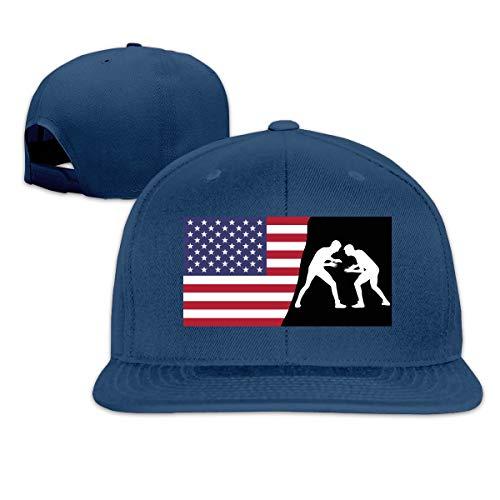 American Men Wrestling Silhouette by Vexels 2 Men Women Baseball Cap, Adult Hip Hop Snapback Hat Navy