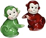 Appletree Design Monkey Salt and Pepper Set, 3-1/8-Inch