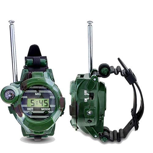ALXDR Walkie Talkies para niños, 100 Metros Radios de 2 vías de Largo Alcance Walkie-Talkie Watch con Linterna Brújula...