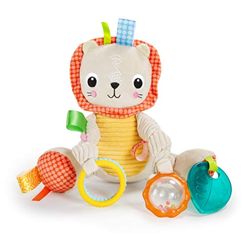 Bright Starts Bunch-O-Fun Plush Activity Toy, Lion, 3 Months +