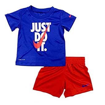 Amazon.com: Nike Baby Boys Just Do It T-Shirt and Short ...