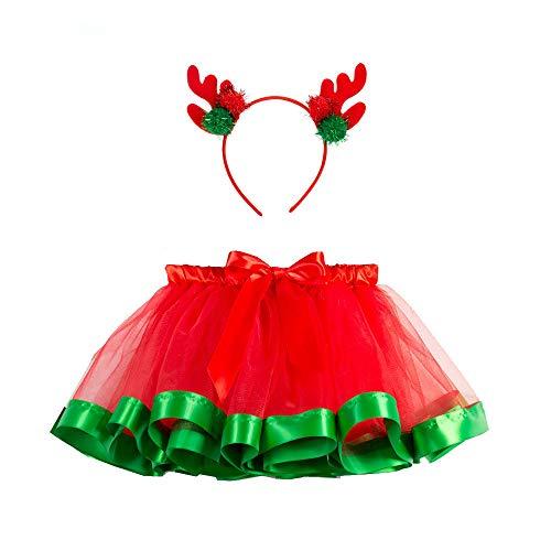 Big Girls Tutu Skirts Layered Tulle Princess Dresses Sparkle Christmas Tutu 2