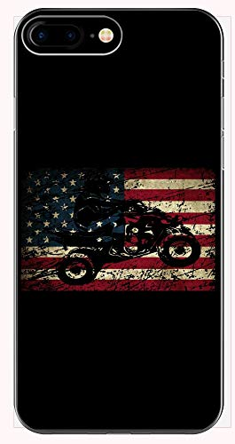 ATV Silhouette American USA Flag Quad Biker Gift - Phone Case for iPhone 6+, 6S+, 7+, 8+
