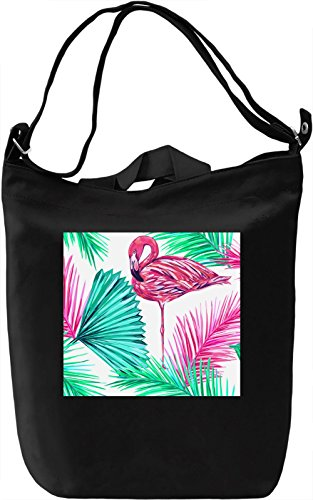 Beautiful Flamingo Pattern Borsa Giornaliera Canvas Canvas Day Bag| 100% Premium Cotton Canvas| DTG Printing|