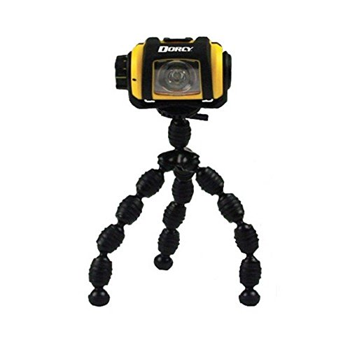 Metal Gear Dorcy (Dorcy Pro Series 200-Lumen Weather Resistant LED Magnetic Headlight with Tripod, Yellow (41-2614))