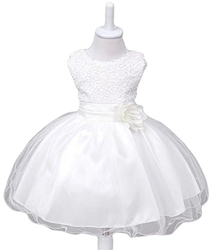 ZAHB Girl Girl Dress Kids Ruffles Lace Party Wedding Dresses