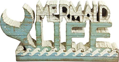 Primitives by Kathy Slatted Chunky Shelf Sitter, Mermaid Life