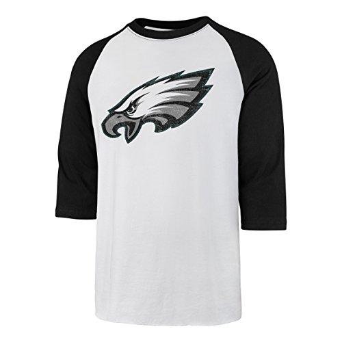 Eagle Logo Shirt (NFL Philadelphia Eagles Men's OTS Rival Raglan Distressed Tee, White Wash, Large)