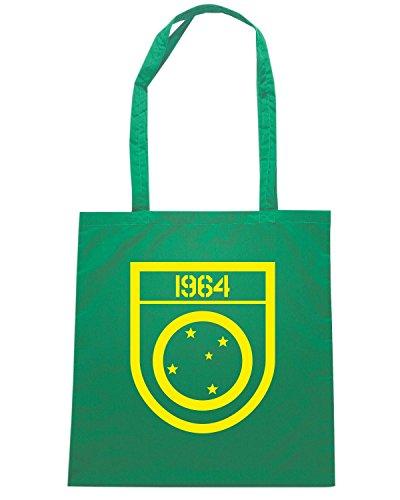 T-Shirtshock - Bolsa para la compra TM0003 1964 patch 01 brasile Verde