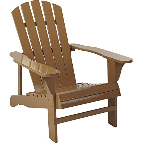 Leigh Country Classic Painted Wood Adirondack Chair - Brown -