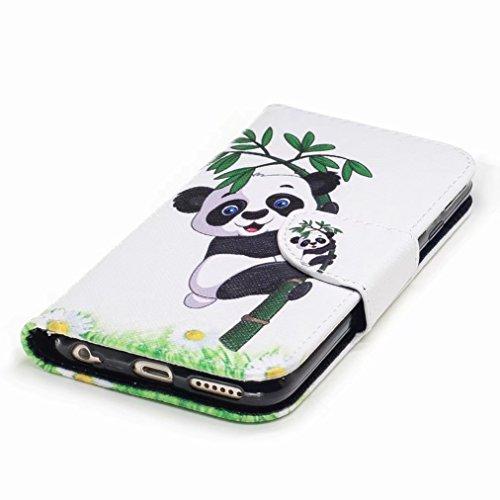 Yiizy Apple IPhone 6 Plus / IPhone 6s Plus Cover Custodia, Panda Arrampicata Design Silicone Custodia Flip Cover Portafoglio PU Pelle Cuoio Copertura Case Slot Schede Cavalletto Stile Libro Bumper Pro