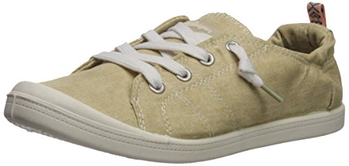 Cotton Womens Shoes - Sugar Women's SGR-Genius Sneaker, Natural Washed Cotton, 8.5 Medium US